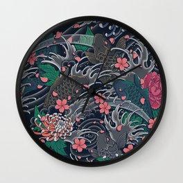 Japanese Waves Wall Clock