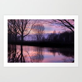 Sunset silhouette Art Print
