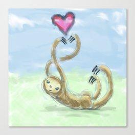 Slothly Love Canvas Print