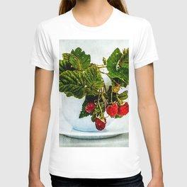 Fresh raspberries in a teacup T-shirt