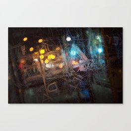 Scraped Canvas Print