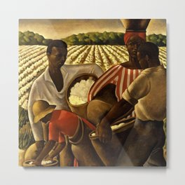 African American Masterpiece 'Employment of Negroes in Agriculture' by Earle Wilton Richardson Metal Print