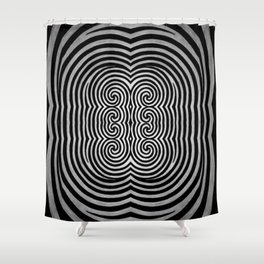 Cronky Acid Black and White Shower Curtain