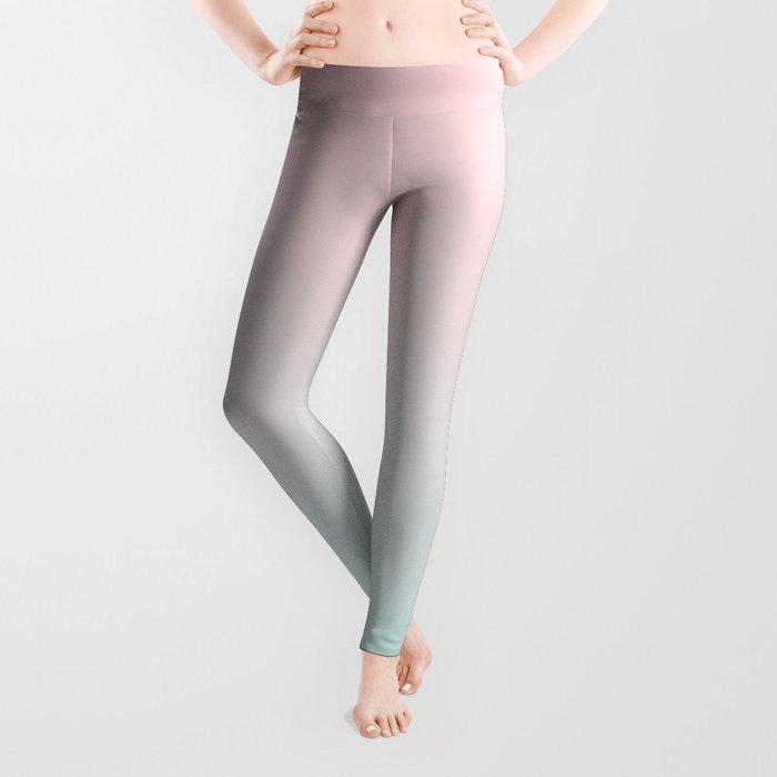 Pastel Ombre Millennial Pink Mint Gradient Leggings