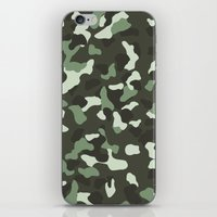 camo iPhone & iPod Skins featuring CAMO by Brukk