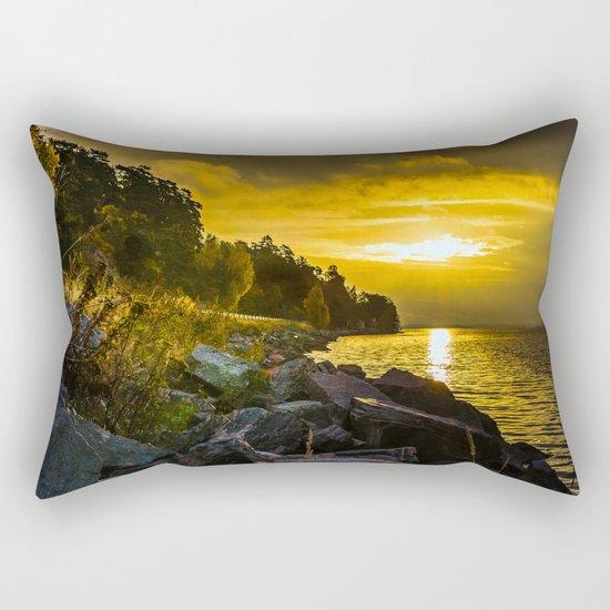Morning Gold II Rectangular Pillow