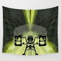 motorbike Wall Tapestries featuring Futuristic Motorbike by The Warehouse