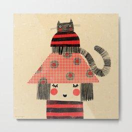 CAT & HAT Metal Print