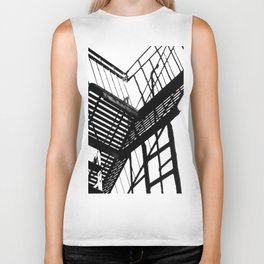 Escape in Black & White Biker Tank