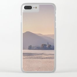 Panorama of small a Austrian town across the Danube Clear iPhone Case