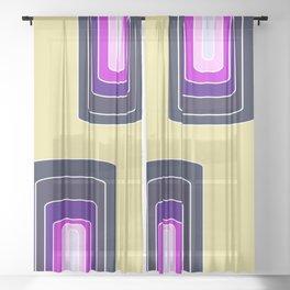 Spacecolor rainbow Sheer Curtain