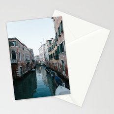 Empty boats in Venice Stationery Cards