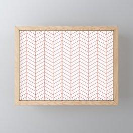 Herringbone - Fiesta Framed Mini Art Print