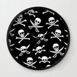 Pirateskulls Wall Clock