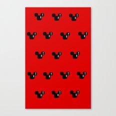 8 Bit Mouse Pattern Canvas Print