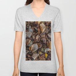 Fallen autumnal leaves Unisex V-Neck