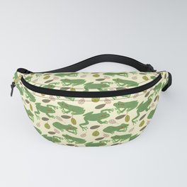 Fun Frogs with Leaves from Trees Fanny Pack