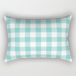 Turquoise Vichy Rectangular Pillow