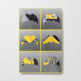 Bat-Man Promo Series: Vertical Pop Metal Print