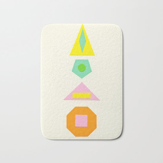 Shapes Within Shapes Bath Mat