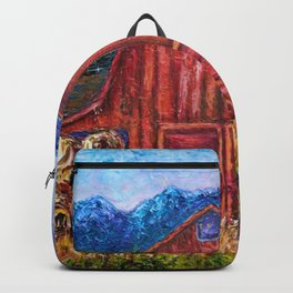 Red Barn by Lena Owens Backpack