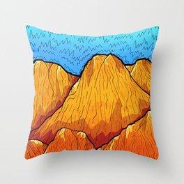 The sandy mountains Throw Pillow