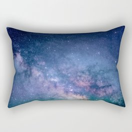 Purple Glitter Galaxy Rectangular Pillow