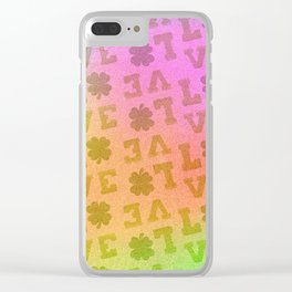 St. Patrick's Metallic Pattern Clear iPhone Case
