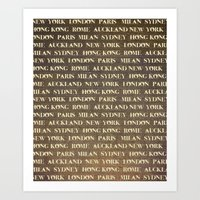 cities Art Prints featuring Cities by Linde Townsend