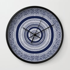 Denim Mandala Wall Clock