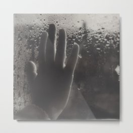 Polaroid lovers ~ hand  Metal Print
