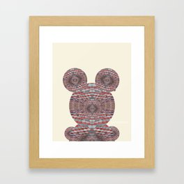 Perception: Checkered red and grey creature Framed Art Print