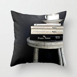 Books&Stool Throw Pillow