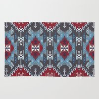 ethnic Area & Throw Rugs featuring Ethnic  by Judy Csotsits