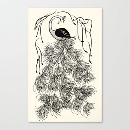 Jungle Peacock Canvas Print