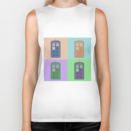 TARDIS – travel in time with Doctor Who Biker Tank