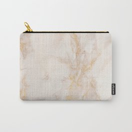 Gold Marble Natural Stone Gold Metallic Veining Beige Quartz Carry-All Pouch