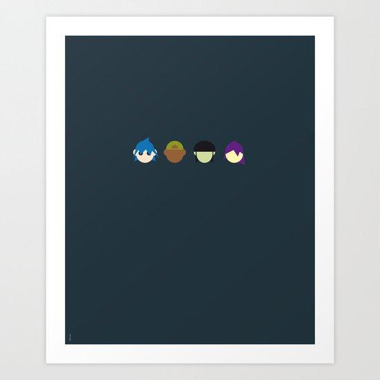 Famous Capsules - Gorillaz Art Print