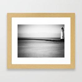 Lighthouse at Hoylake,The Wirral 2009 Framed Art Print