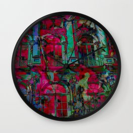 Psychedelic windows Wall Clock