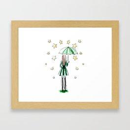 Star Showers Framed Art Print