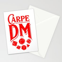 Carpe DM Tabletop Gaming Gift Dragons D20 Dice Set Print Stationery Cards
