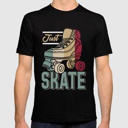 Just Skate   Retro Roller Skating T-shirt