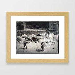House Disaster Art -  The Dig Framed Art Print