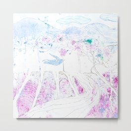 Lavender | Granatovych Artwork | Oils on Water and Watercolors Metal Print