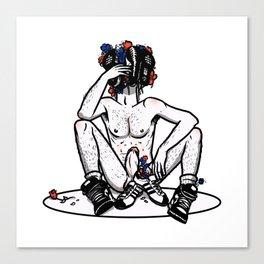 Sneaker Cerberus UNCENSORED Canvas Print