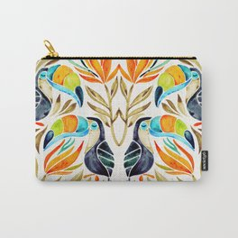 Tropical Toucans – Sepia Palette Carry-All Pouch