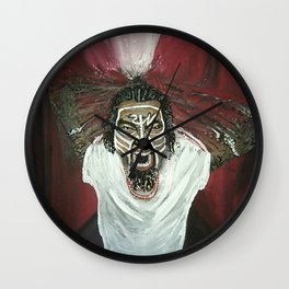 Tech N9ne Painting in Acrylics Wall Clock