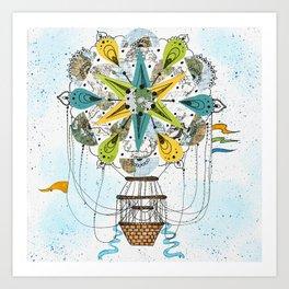 Hot Air Balloon Mandala Art Print