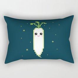 Happy Pixel Daikon Rectangular Pillow